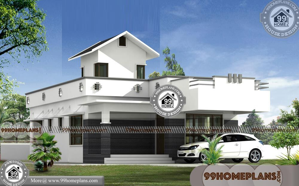 1 Story Contemporary House Plans With Low Cost Modern Home