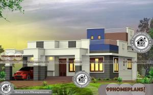 1 Story House Plans with Flat Roof Simple & Less Economic Design Ideas