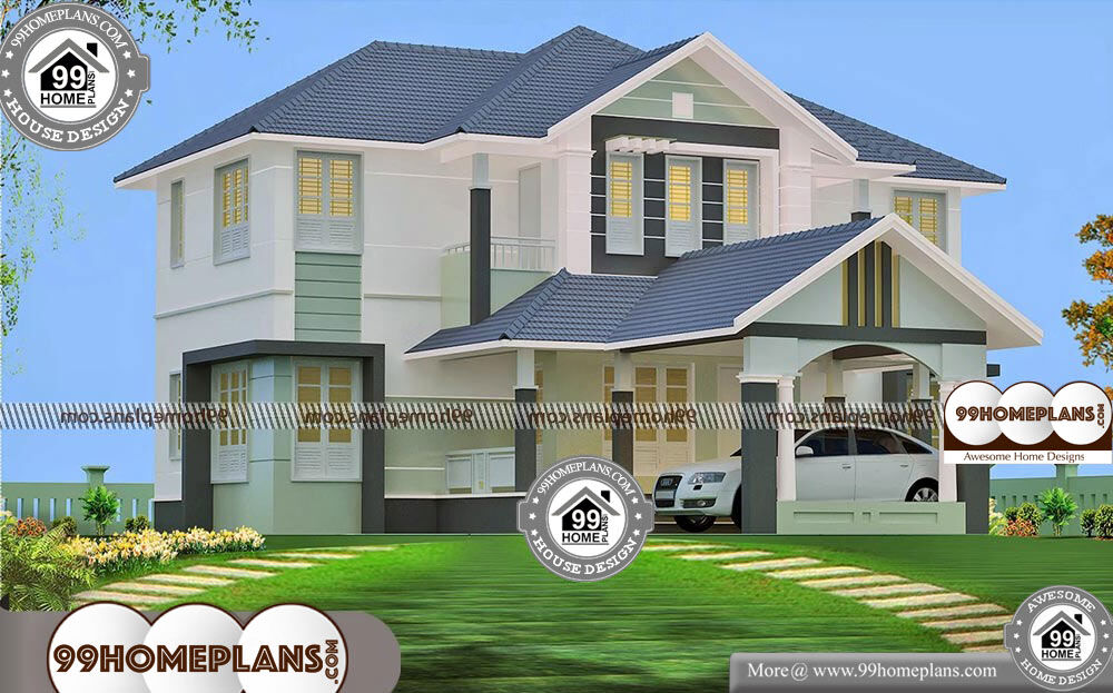 2 Story House Plans With 4 Bedrooms - 2 Story 2610 sqft-Home
