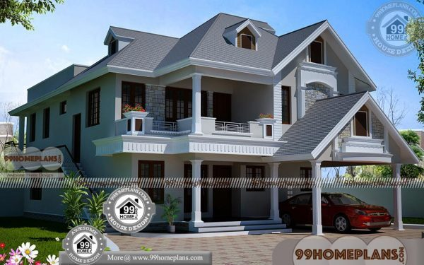 2 Level House Plans With 3d Elevations Award Winning