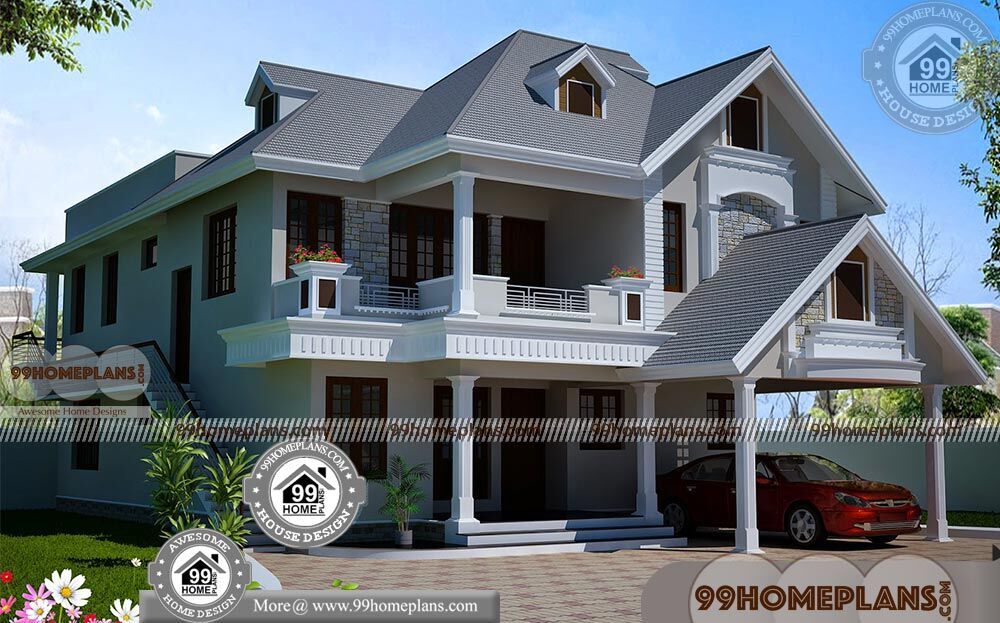 Award Winning Small Home Designs: 2 Level House Plans With 3D Elevations