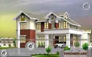2 Storey 4 Bedroom House Plans with Fusion style Contemporary Designs