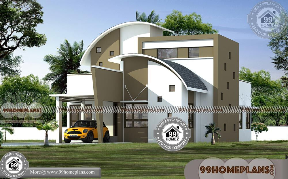 2 Storey House Floor Plan Contemporary Style Modern Home