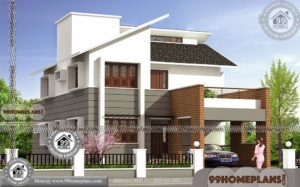 2 Storey House with Contemporary Style Latest Exterior Design Plans Free