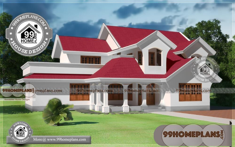 2 Story House Plans Indian Style With 3d Elevations Low