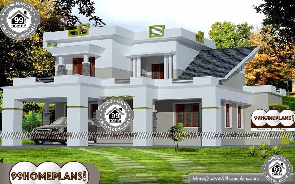 2500 Sq Ft House Plans Kerala | Low Economy Two Floor ...