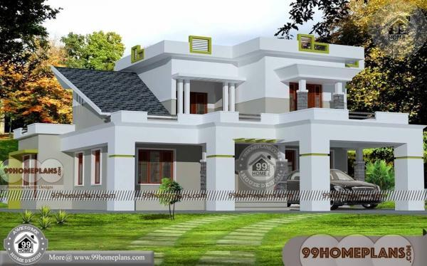 2500 sq ft house plans kerala low economy two floor modern designs