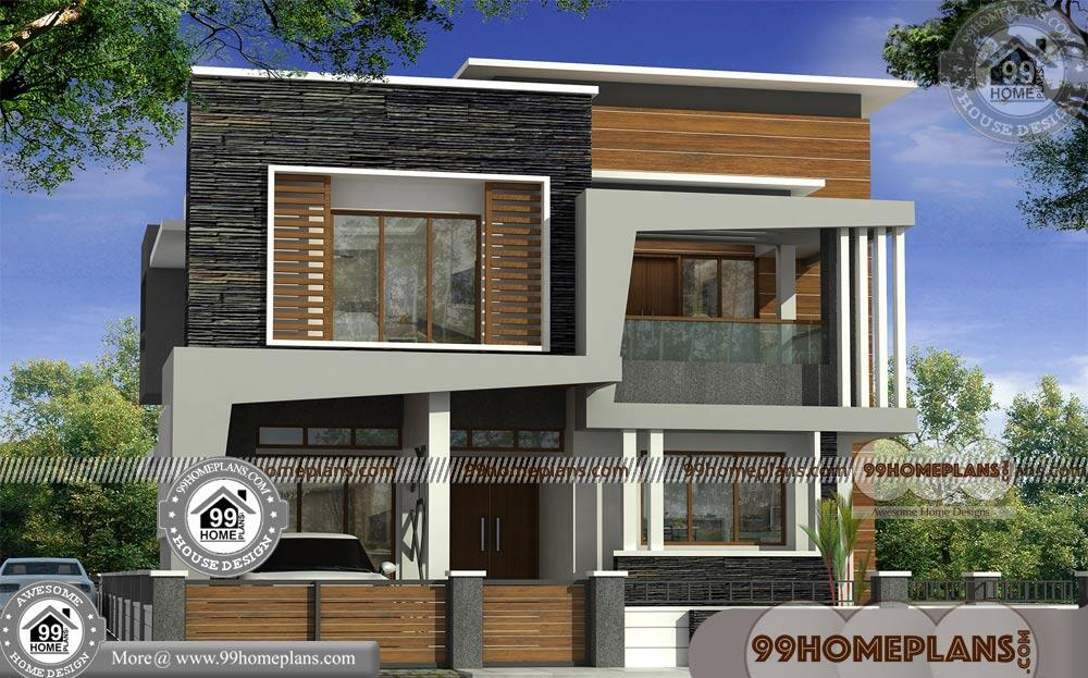 3 Bedroom Kerala House Plan with 3D Elevations | 2 Floor ...