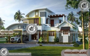 3 Room House Plan | Double Story Contemporary Style Home Floor Plans