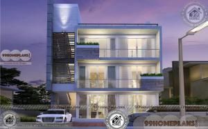 3 Storey Apartment Building Design | 30 x 40 Narrow Block Plan Collection