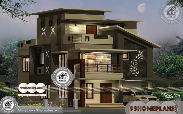 3 Storey Home Design with Low Estimated Contemporary Plan Collections