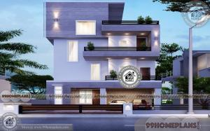 3 Storey House Plans For Small Lots | 30 x 30 Narrow Space City Homes