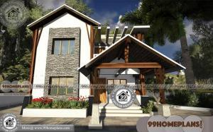 30 Ft Wide House Plans & 3D Elevations | Best Modern Cute Home Image