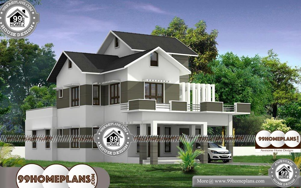 4 Bedroom Townhouse Plans - 2 Story 2776 sqft-Home