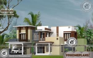 4 Bedroom Bungalow House with Double Story Modern Ordinary Plans