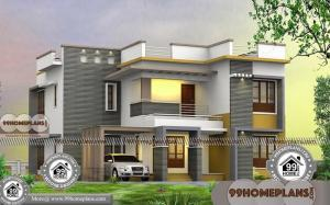 4 Bedroom Bungalow Plans with Two Level Flat Roof Stylish Collections