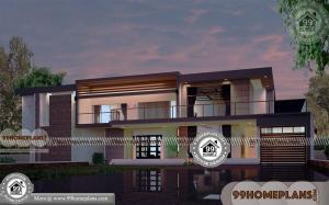 4 Bedroom Rectangular House Plans with 3D Elevations | Cheap Designs