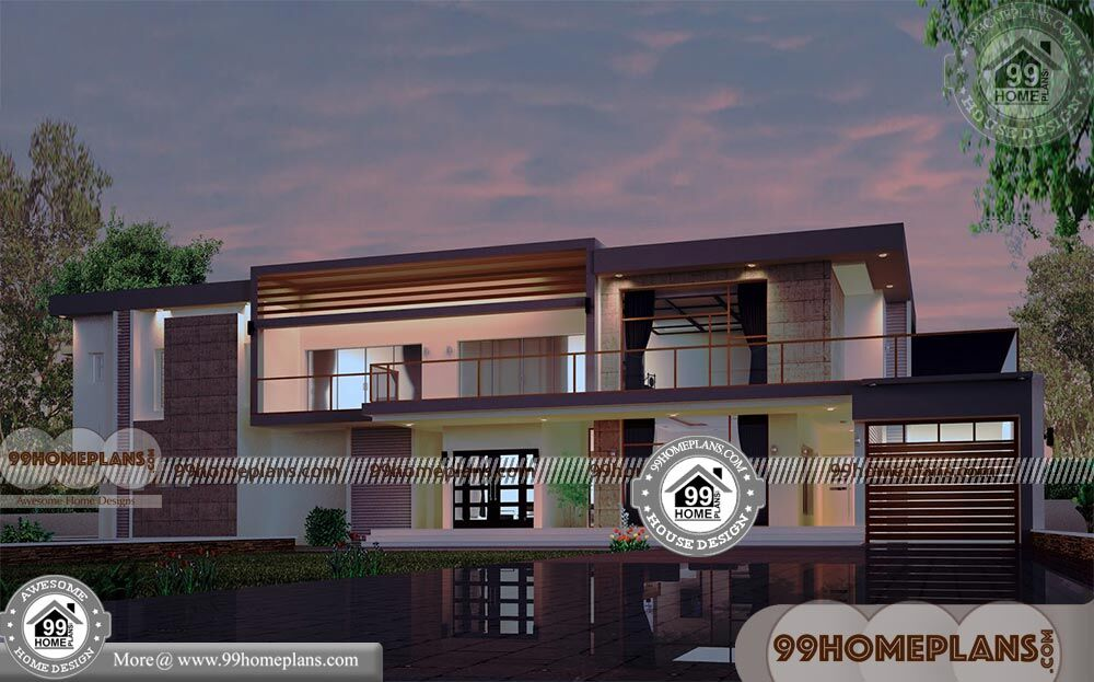 4 Bedroom Rectangular House Plans With 3d Elevations