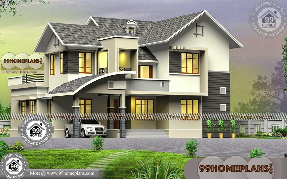 4 Bedroom Two Storey House Plans with Low Budget Modern ...