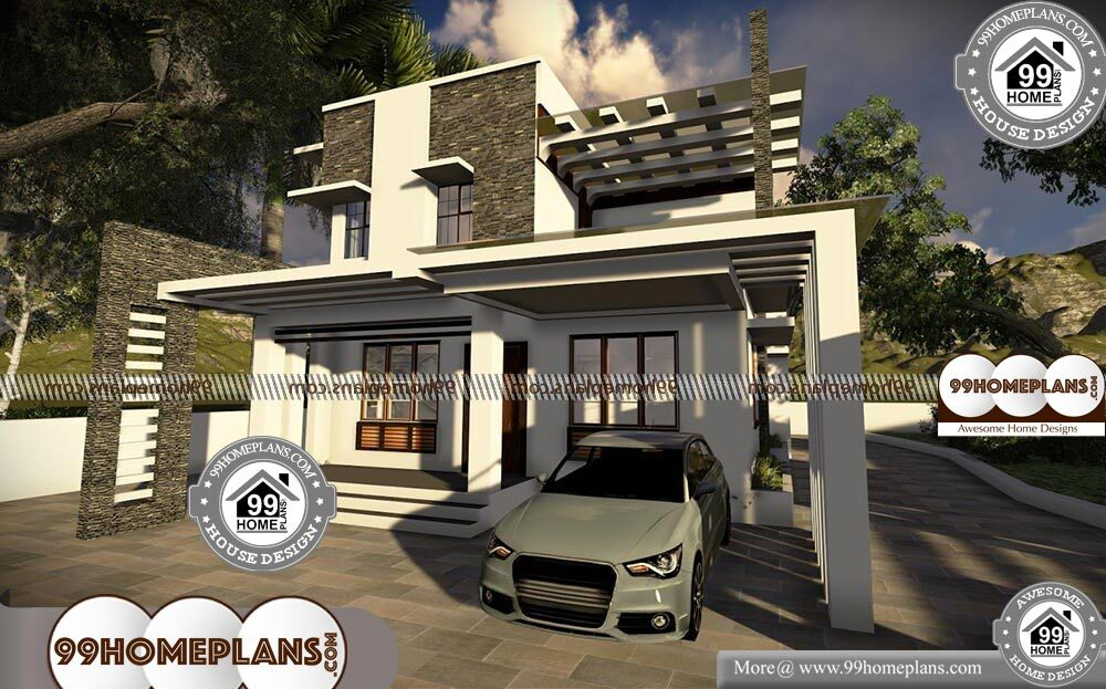45 Foot Wide House Plans - 2 Story 1760 sqft-Home