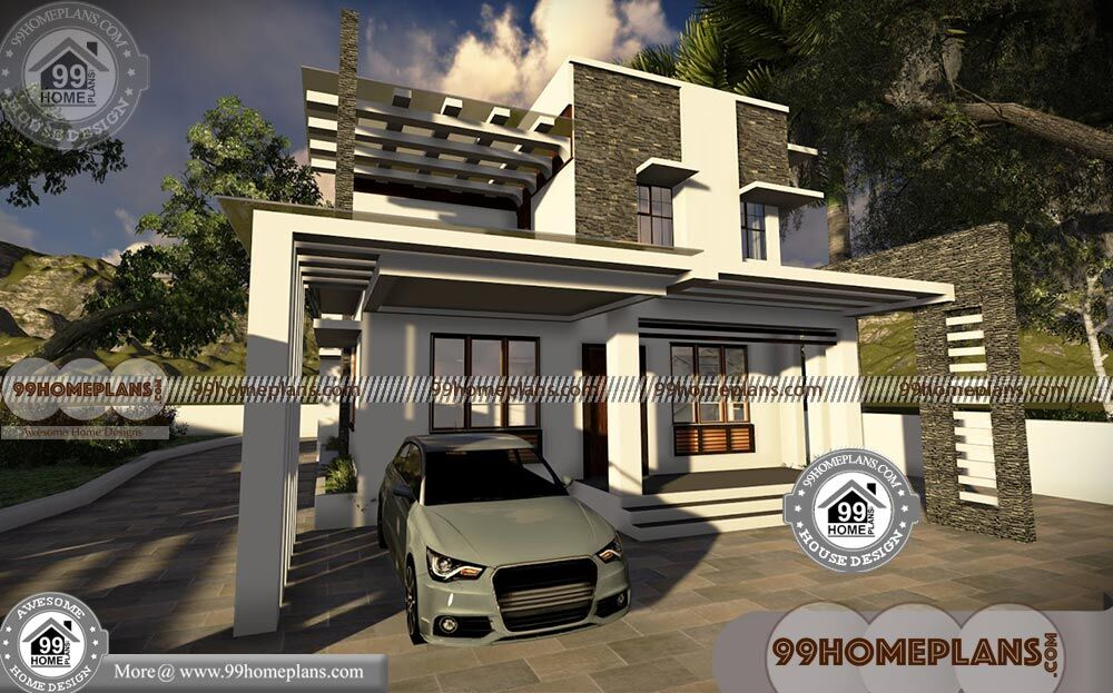 45 Foot Wide House Plans 3d Elevations Low Economy
