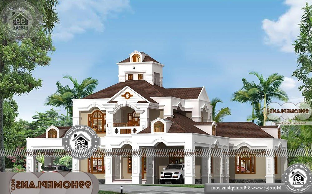 Bungalow Designs Indian Style - 2 Story 5396 sqft-Home