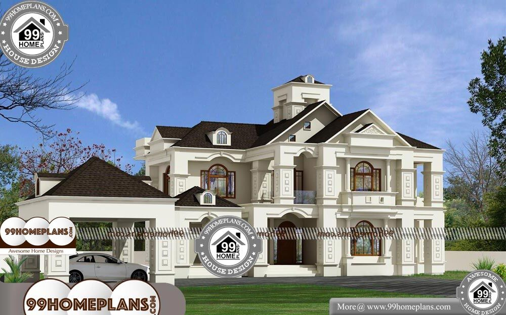 Bungalow Home Plans And Designs - 2 Story 3150 sqft-Home