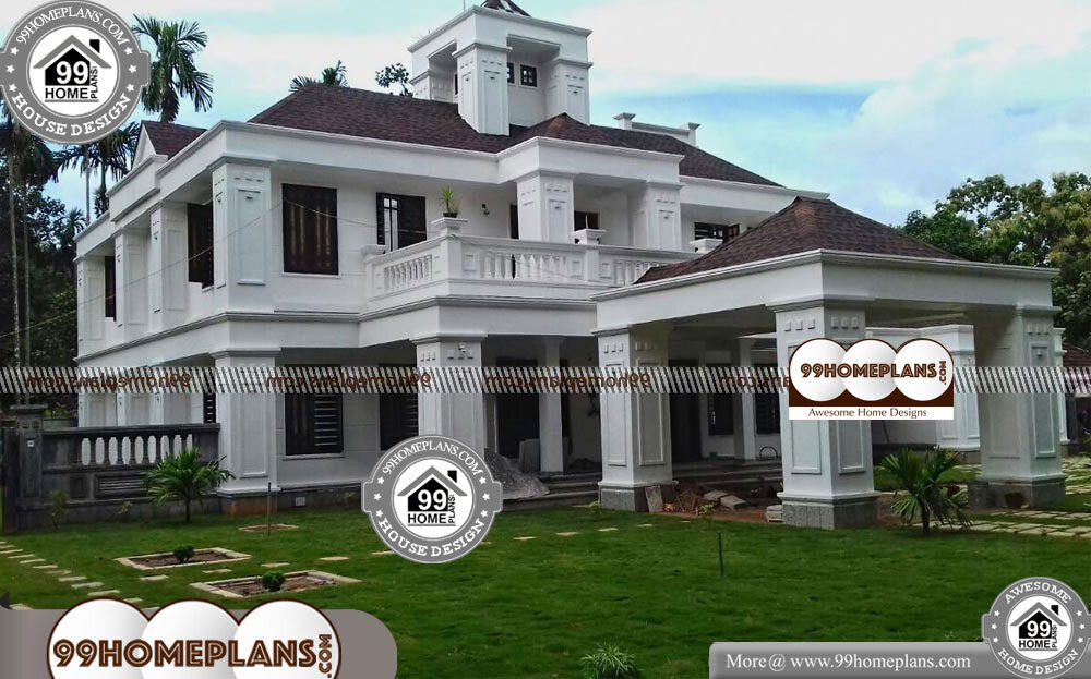 Bungalow Style Home Plans - 2 Story 5130 sqft-Home