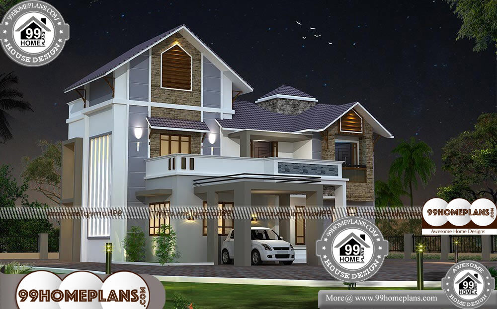 Cheap two story homes with 3d elevations low cost mind for Cheap 2 story houses