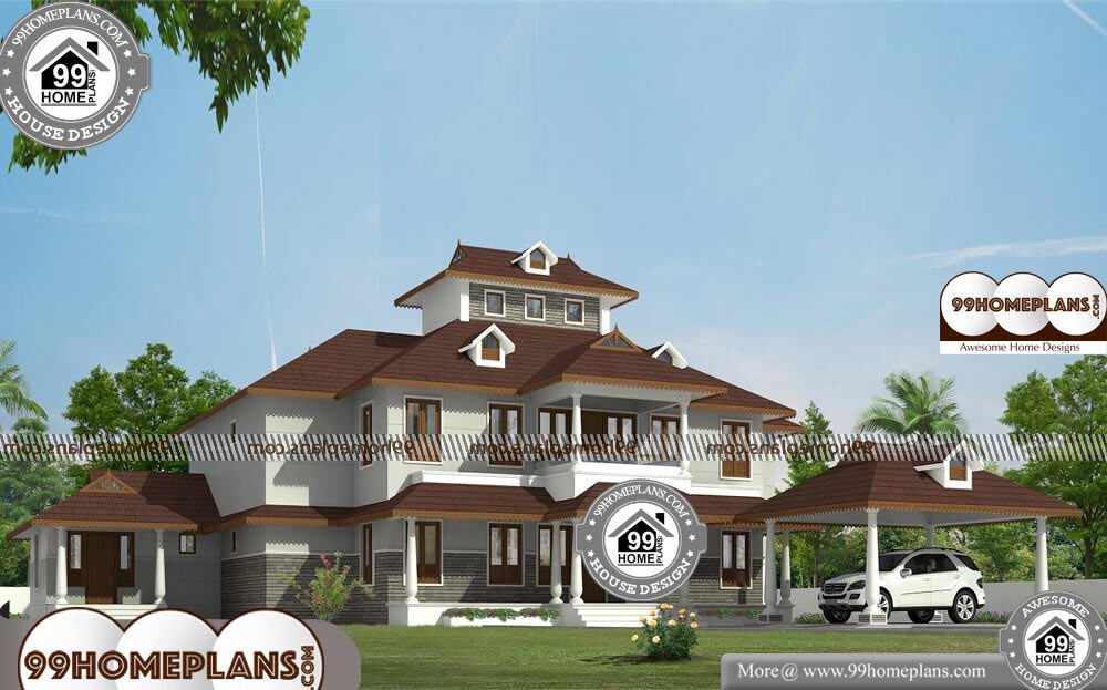 Double Storey Plans With Balcony - 2 Story 5250 sqft-Home