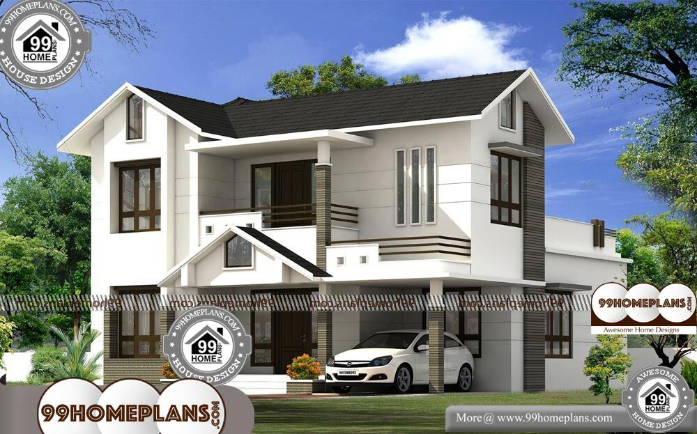 Farmhouse Plans With 4 Bedrooms - 2 Story 2199 sqft-Home