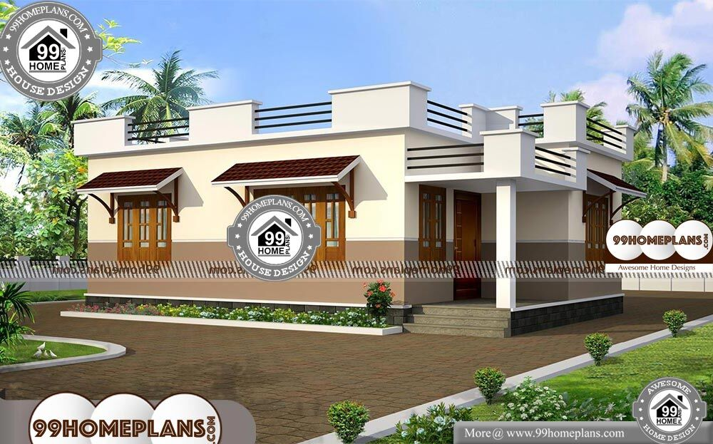 Floor Plans For One Level Homes - Single Story 720 sqft-Home
