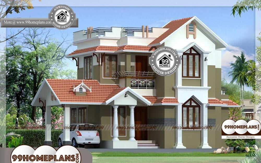 Home Design India Small Size Two Story Traditional House Floor Plans
