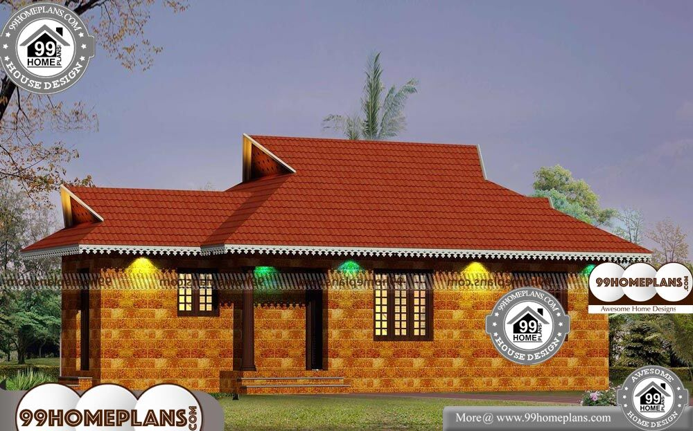 House Plans With Stone - Single Story 885 sqft-Home