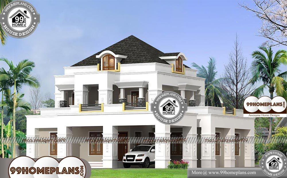 Indian Bungalow Designs Photo Gallery - 2 Story 2686 sqft-Home