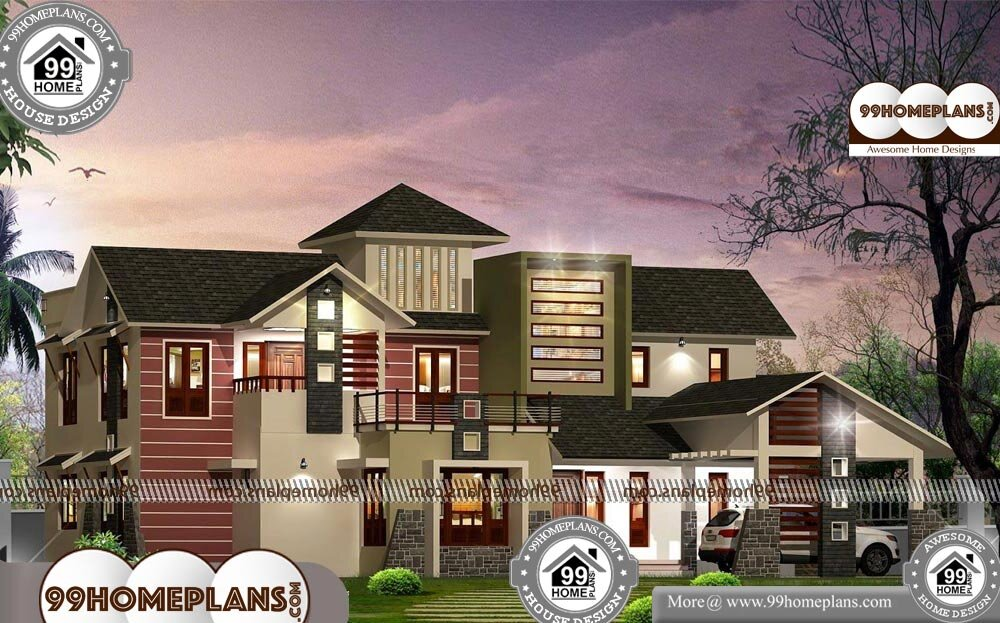 Indian House Elevation - 2 Story 3400 sqft-Home