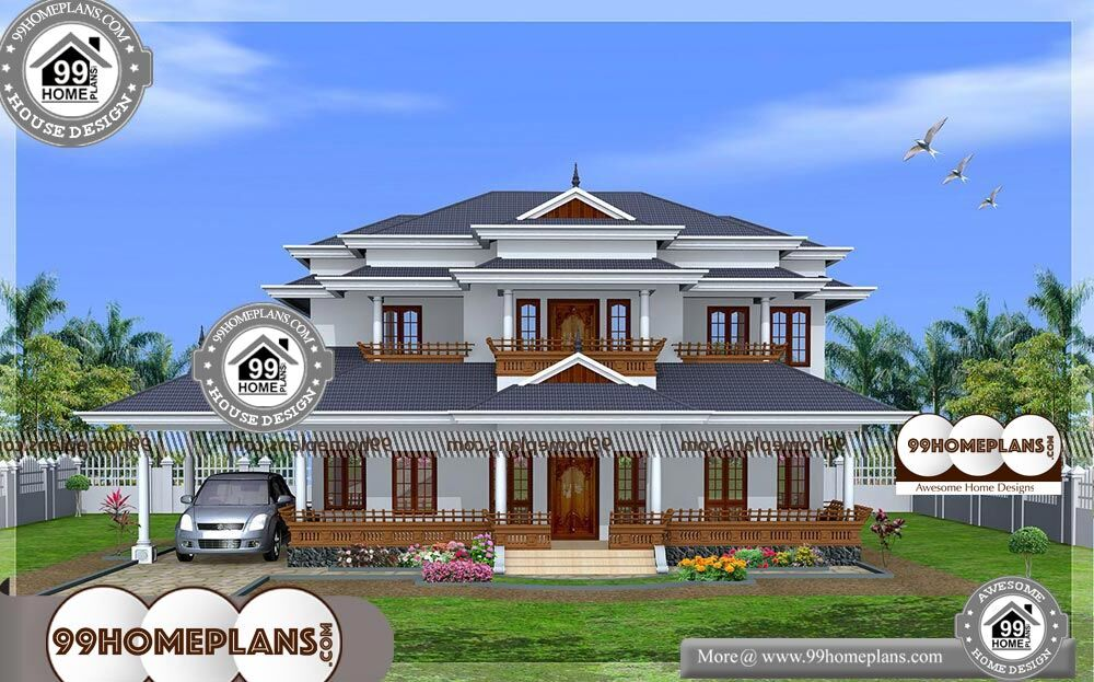 Indian New House Design Ideas - 2 Story 3550 sqft-Home