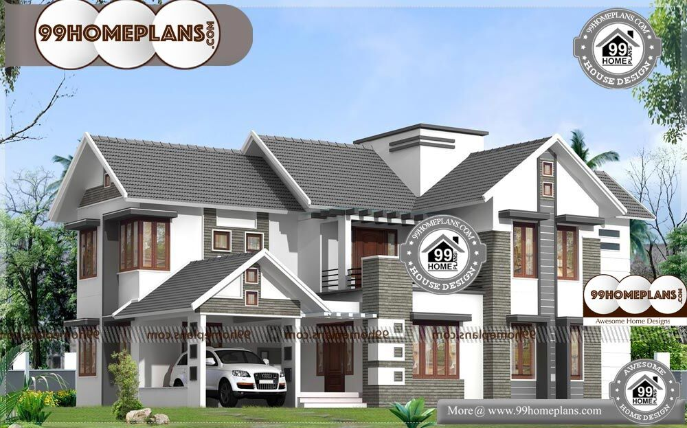 Indian Simple House Design | 2 Story Contemporary Home Design Plans