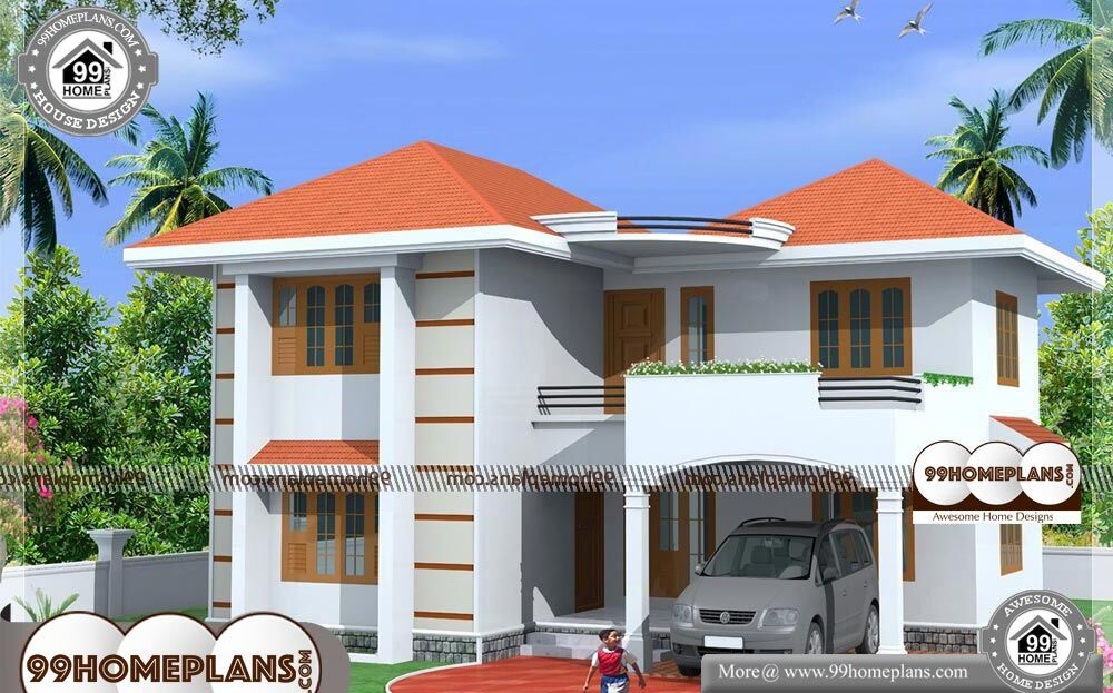 Indian Small House Designs Photos 2 Story 1800 sqft Home