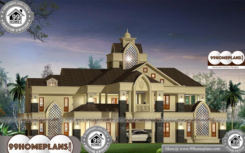 Indian Style Bungalow Designs - 2 Story 5773 sqft-Home