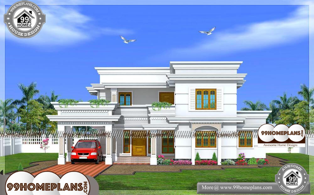Kerala style home plans and elevations with duplex house for Kerala type house plan and elevation