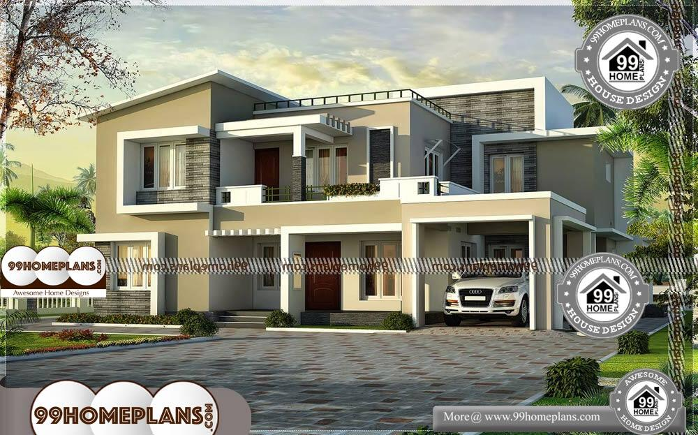 Kerala Style Low Cost Double Storied Home: Two Story Modern Contemporary