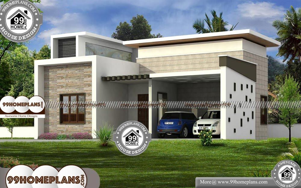 Modern House Design One Floor Best Contemporary Style Flat Roof Plan