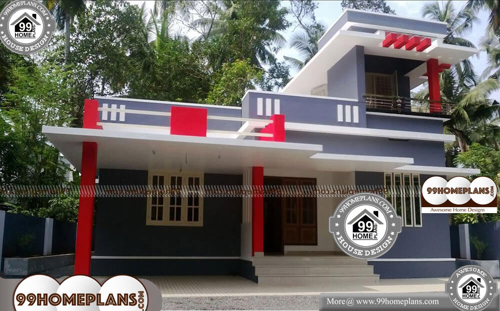 Modern House Front Elevation - 2 Story 1291 sqft-Home