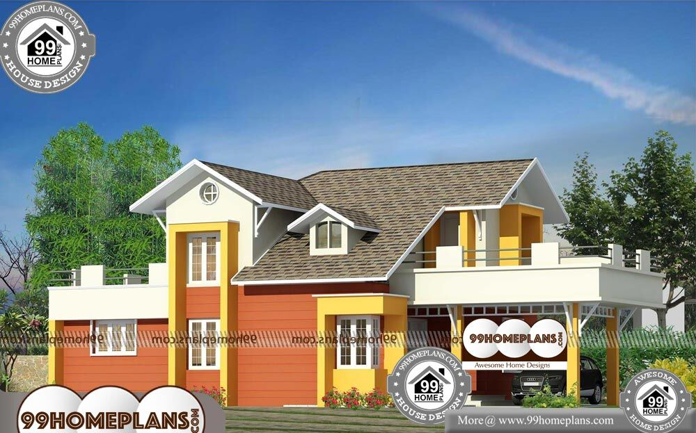 Modern House Plan And Elevation - 2 Story 1880 sqft-Home