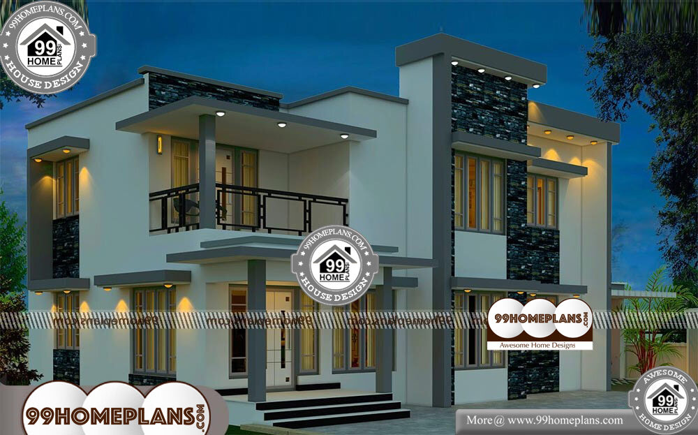 Modern House Plans With Photo - 2 Story 2400 sqft-Home