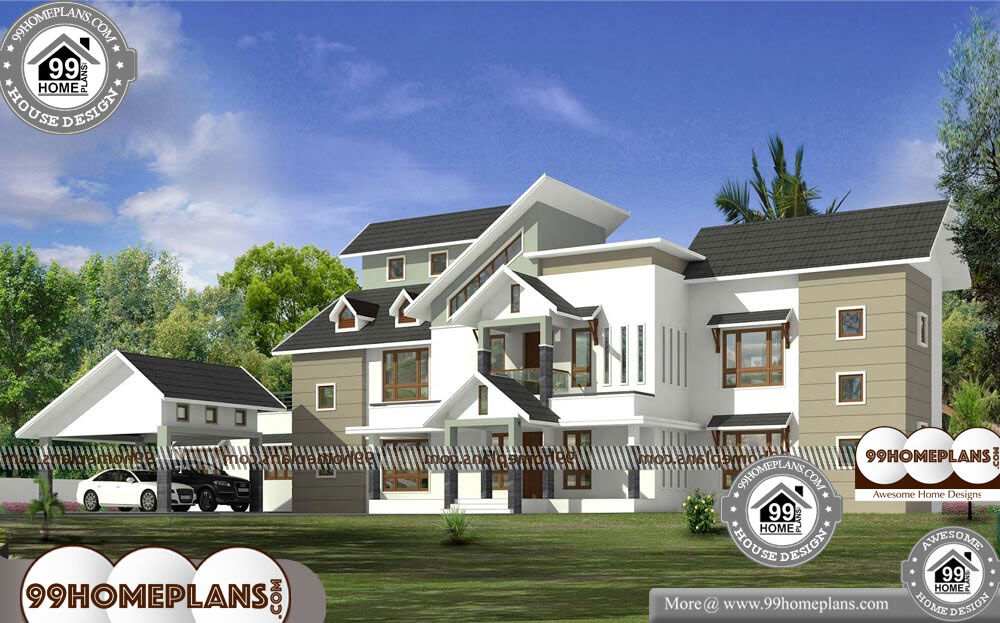 Modern House Two Storey - 2 Story 8179 sqft-Home