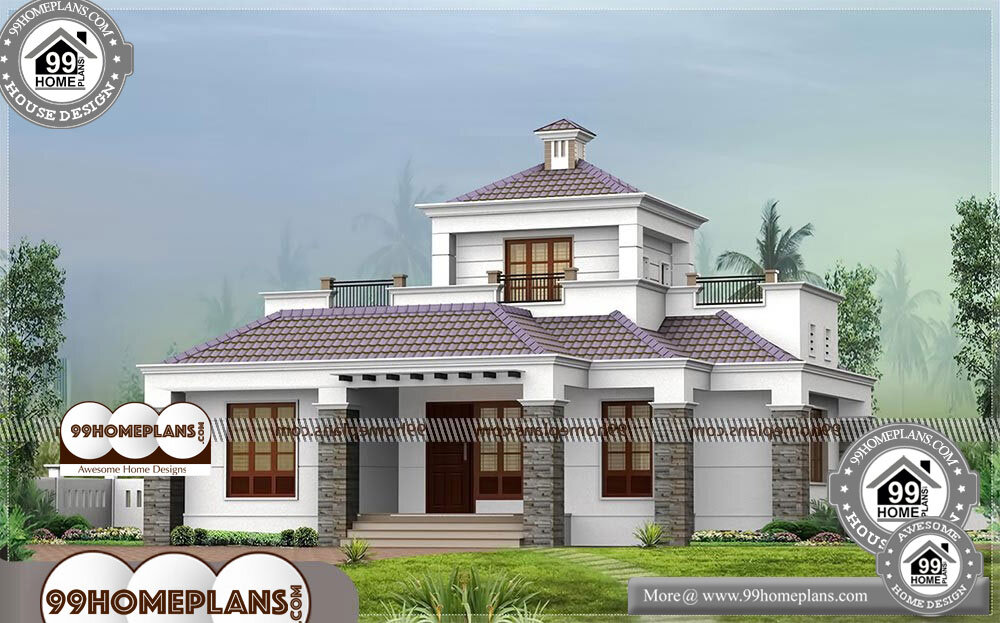 Modern Traditional Houses In Kerala - Single Story 1500 sqft-Home