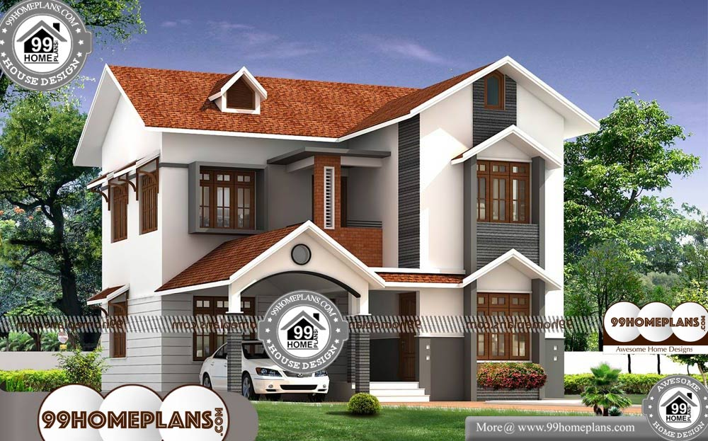 Simple House Plans 4 Bedrooms With 3d Elevation Two Story Cute Plans