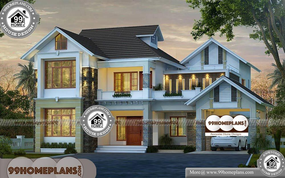 Simple Indian House Design Pictures - 2 Story 2850 sqft- Home